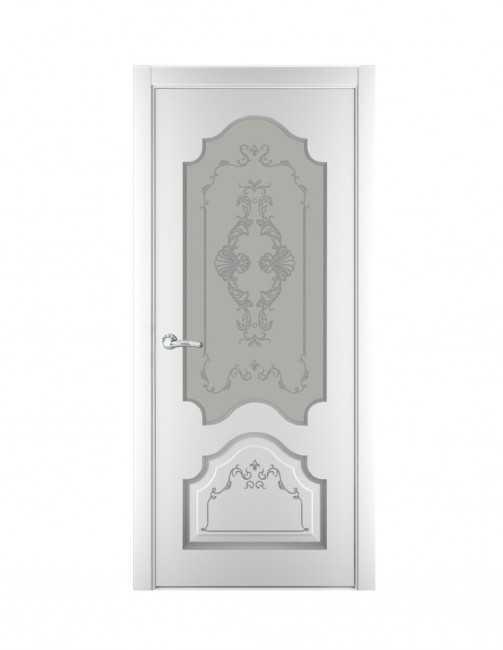 Ușă Toulouse Patina Argintiu PO (email alb)